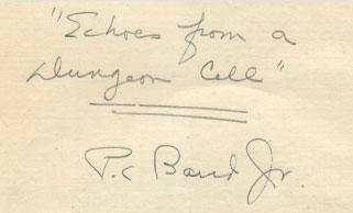 Dr. Perry Baird's handwritten manuscript