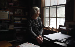 Photograph of Mimi Baird in her Vermont home